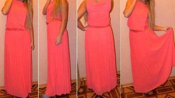 платье плиссе 2013 4