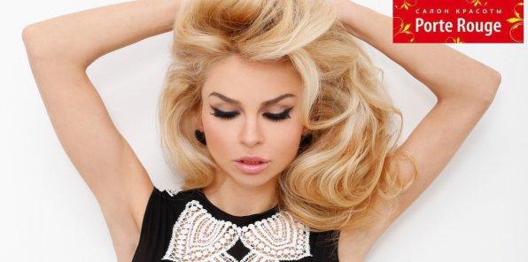 -80% на услуги для волос в салоне красоты Porte Rouge